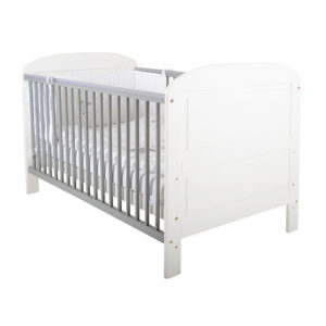 East Coast Angelina Cot Bed White & Grey-0